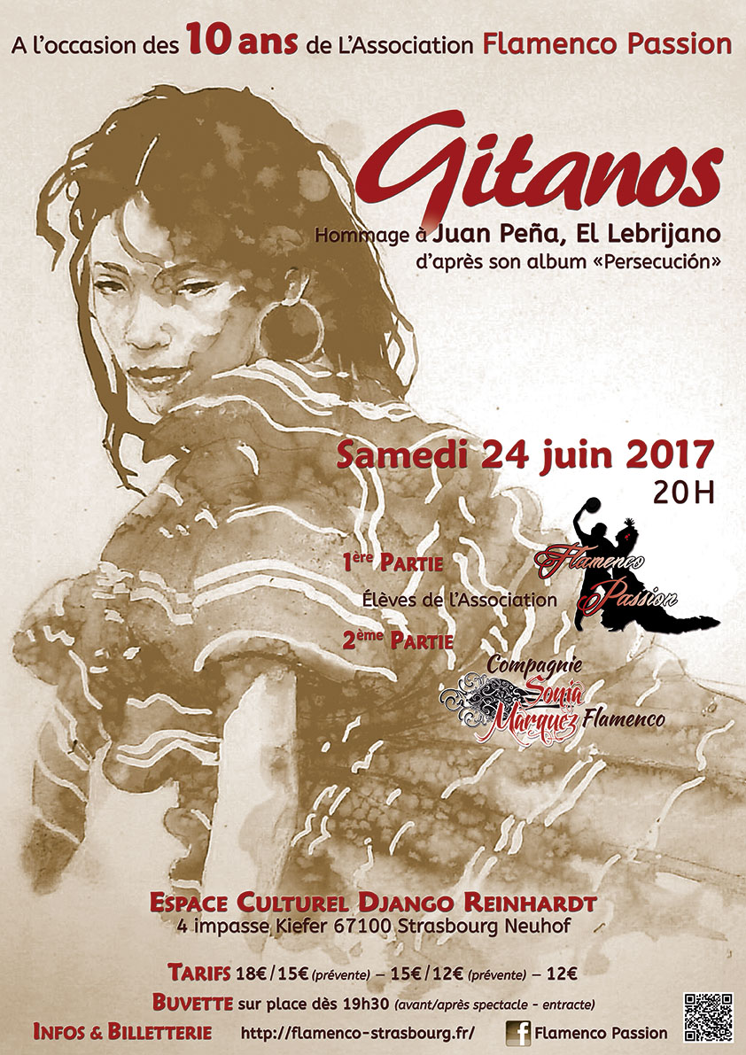 Affiche Spectacle Gitanos
